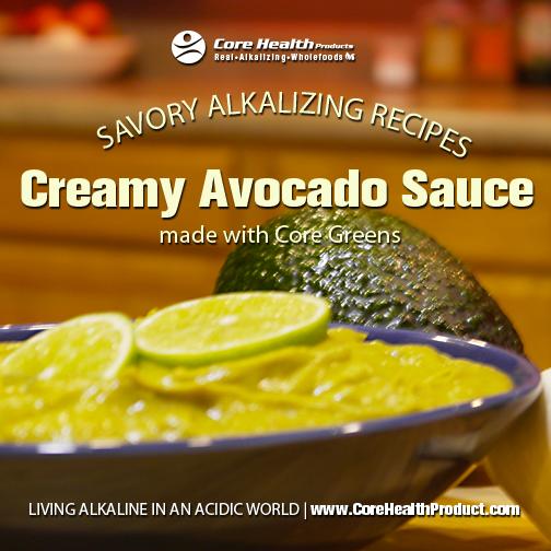 Creamy Avocado Sauce With Core Greens